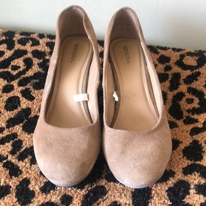 Merona tan wedges